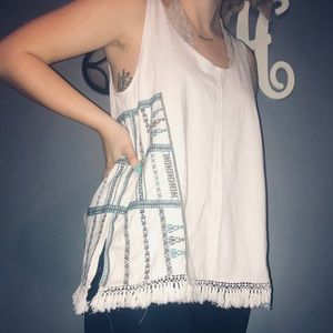 madewell embroidered tank top